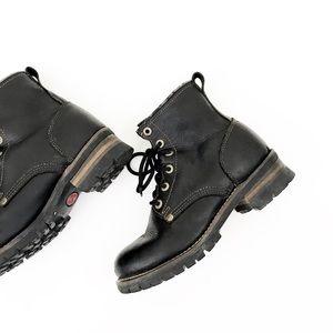 SKECHERS Vintage Black Combat Work Boots